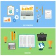 Business, seo and education items icons. — Stock Vector