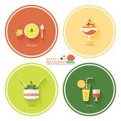 Restaurant menu designs — Stock Vector
