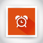 Icon of alarm clock for web and mobile applications — Stock Vector