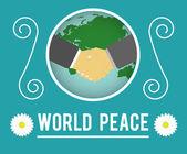 World peace concept — Stock Vector