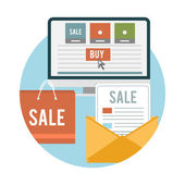 Business online sale icons — Stock Vector