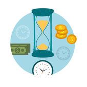 Time is money concept — Stock Vector