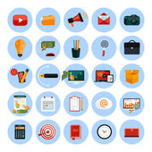 Business, office and marketing items icons. — Stock Vector