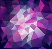 Triangle background. Lilac polygons. — Stock Vector