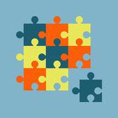 Parts of multicolor puzzles — Stock Vector