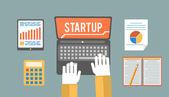 Start up concept — Stock Vector