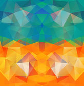 Triangle background. Pattern of geometric shapes — Stock Vector
