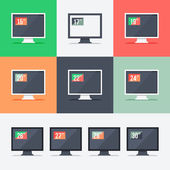 Responsive web design on different monitors — Stock Vector
