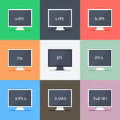 Responsive web design on different monitors — Vector de stock