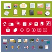 Workplace office and business work elements set — Stock Vector