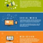 Icons for web design, seo, social media — Stock Vector