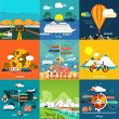 Icons set of traveling and planning a summer vacation — Stock Vector #50401407