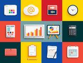 Sada různých položek finančních služeb — Stock vektor