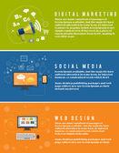 Icons for web design, seo, social media — Stockvektor
