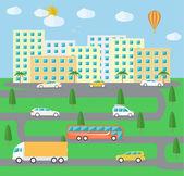 City town landscape life — Stock Vector