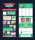 Website page template. Web design — Vector de stock