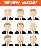 Set of business avatar of businessman — Stock Vector