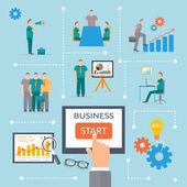 Business start infographics template — Stock Vector