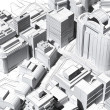 Stock Photo: Architectural visualization of city aerial view