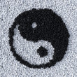 YinYang symbol made of gravel — Stock Photo