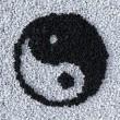 YinYang symbol made of gravel — Stock Photo