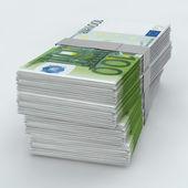 Euro Moneystack frontal — Stock Photo