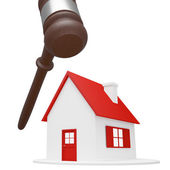 House with hammer — Stock Photo