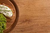 Buio allevati con spazio copia di crema di formaggio — Foto Stock