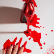 Crime scene with shoe — Stock Photo