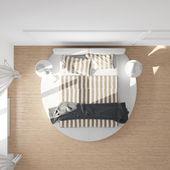 Bedroom top view — Stock Photo