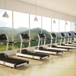 Gym with windows — Stock Photo