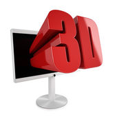 Flatscreen TV with 3D stereocopic feature — Stock Photo