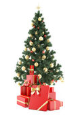 Christmastree with presents — Stock Photo