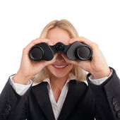 Woman with ocular — Stock Photo