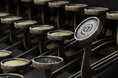 Old typewriter with email symbol — Stock Photo
