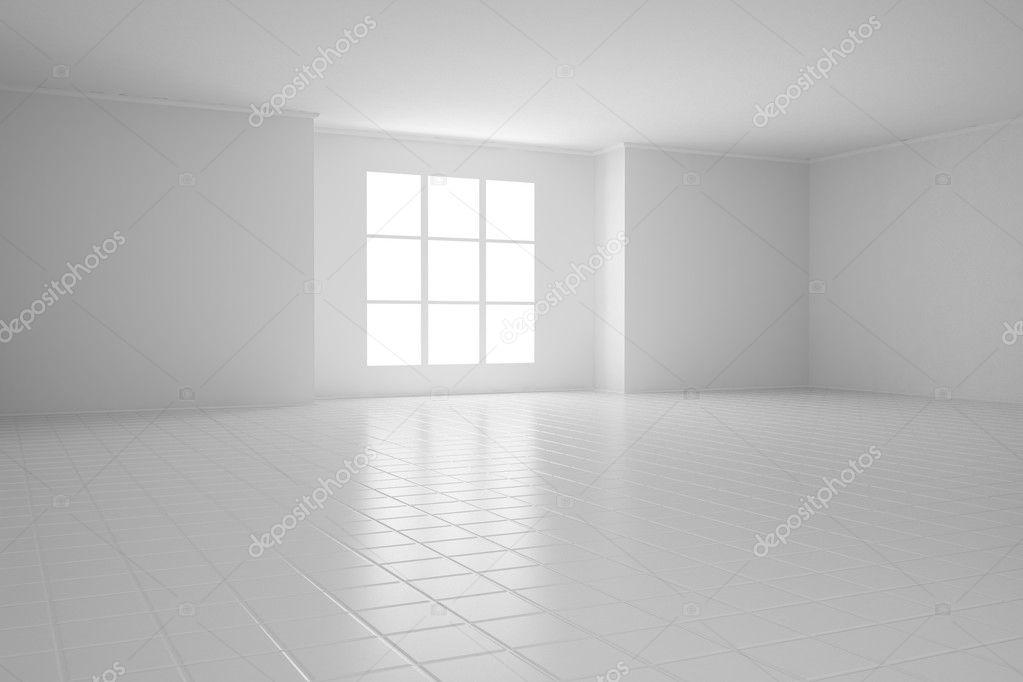 leerer wei er raum mit quadratischen fenstern stockfoto 30002515. Black Bedroom Furniture Sets. Home Design Ideas