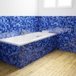 Empty Bathroom from angular view — Stock Photo