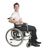 Young professional in wheelchair — Stock Photo