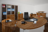 Office with wooden furnitures — Stock Photo