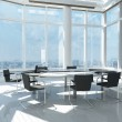Modern office with many windows — Stock Photo