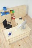 Modern office top view — Stockfoto