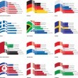 Editable Flag Bar Graphs — Image vectorielle