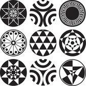 Patrones decorativos Vintage — Vector de stock