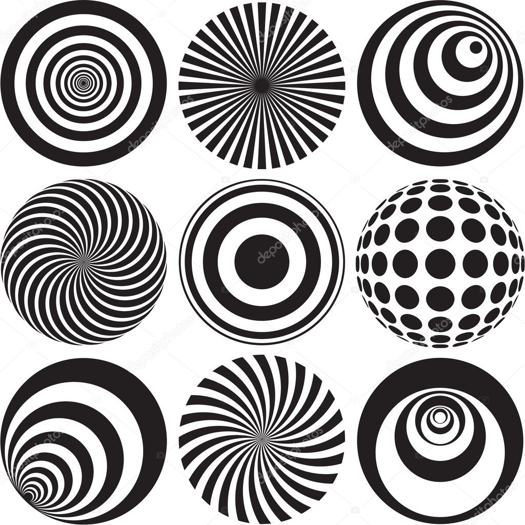 depositphotos 26633449-Black-and-white-Optical-Art jpgEasy Black And White Op Art