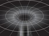Black Hole Isometric View — Stock Vector