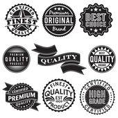 Conjunto de etiquetas retro vintage — Vector de stock