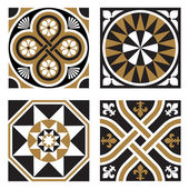Vintage Ornamental Patterns — Stock Vector