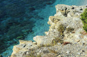 Rocks on the beach of Stintino — Foto Stock