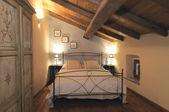 Bedroom at attic — Stock Photo