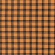 Orange and Black Halloween Colored Plaid Fabric Background — Stock Photo